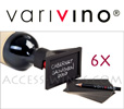 VariVino Poseclip: Box of 6 clips label holder for wine bottles with labels and appropriate pencil