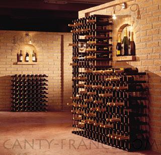 casiers vins canty pour le rangement des bouteilles de vin ou champagne syst me modulaire. Black Bedroom Furniture Sets. Home Design Ideas