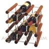 CANTY Luxury Kit - CHERRY brown wooden Wine rack Module with ALUMINUM cross-bar for 12 bottles -Wine or Champagne-
