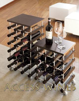 rangement bouteilles canty avec roulettes rack mobile de salon pour le rangement des bouteilles. Black Bedroom Furniture Sets. Home Design Ideas