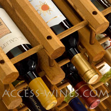 Canty kits: Wooden bottles racks for wine cellar arrangement