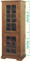 cave vin oak 39 s pour 100 bouteilles armoire de conservation 2 temp ratures. Black Bedroom Furniture Sets. Home Design Ideas