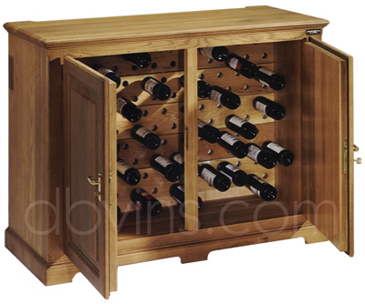 cave vin oak 39 s pour 129 bouteilles armoire de conservation. Black Bedroom Furniture Sets. Home Design Ideas