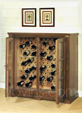 cave vin oak 39 s pour 175 bouteilles armoire de conservation. Black Bedroom Furniture Sets. Home Design Ideas