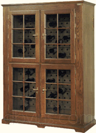 cave vin oak 39 s pour 268 bouteilles armoire de conservation. Black Bedroom Furniture Sets. Home Design Ideas