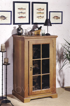cave vin oak 39 s pour 60 bouteilles armoire de conservation. Black Bedroom Furniture Sets. Home Design Ideas