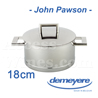 Saucepan Demeyere JOHN PAWSON luxe design series with 18cm diameter  all fire including INDUCTION - stainless steel
