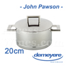 Saucepan Demeyere JOHN PAWSON luxe design series with 20cm diameter  all fire including INDUCTION - stainless steel