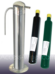 Professional conservation system VinoServ Classic for wine bottles  furnished with the 0.220L gaz cartridge