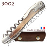 Corkscrew Ch�teau Laguiole 3002 wine waiter´s knife - blond horn handle bright stainless steel bolsters - treaded screw - brown leather case