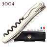 Corkscrew Ch�teau Laguiole 3004 wine waiter´s knife - full stainless steel screw with treaded and teflon - black leather case
