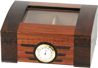 Passsatore humidor +/- 25 cigars - glass lid - art déco style furnished with humidifier and integrated hygrometer