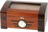 Passsatore humidor +/- 50 cigars - glass lid - art déco style second floor with plate - furnished with humidifiers and integrated hygrometer