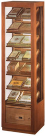 Vitrine pour cigares avec syst�me �lectronique d'humiditfication