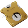 Cigar cutter with spring blade   cut: Ø 21 mm  brand 'Maserin' brass finishing -delivered with a nice gift case-