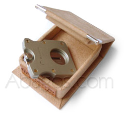 Cigar cutters with spring blade, cigar cutter Maserin, full stainless steel version