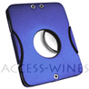 Synchro NICE CREDO cigar cutter - Ø 20,5mm - BLUE colored with black leather sheath