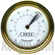Golded CREDO Hygrometer - Ø tot: 55mm  delivered with magnetic element for fixing inside the humidor  possible fitting in Ø: 50mm