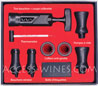 Gift box WINE CELLAR with corkscrew - pumps - drip-stop rings - pourring stoppers - thermometer - labels