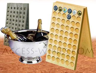 access wines pupitres presentoirs pour capsules ou. Black Bedroom Furniture Sets. Home Design Ideas