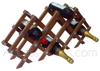 Etain et Prestige - Wooden rack to arrange bottles