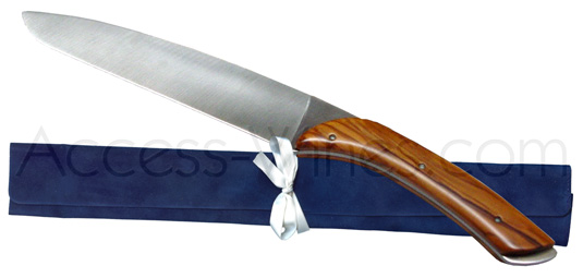 Vialis: Champagne sword olive handle