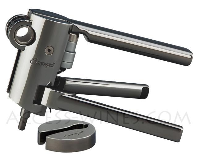 Super SCREWPULL Métal LMG10, Tire-bouchon professionnel LM G10 Nickel Noir QB28