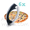 Carboard of 6 slicer tools for pizzas - brand VACUVIN