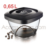 Pack 2 vacuum Coffee Saver VACUVIN box 0·65L with stopper - without pump  milti-usage - suitable for 250gr coffee