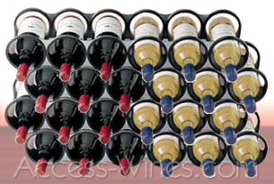 Vacuvin - Wine rack to store bottles  - by 6 wine bottles to superpose or to set side by side.